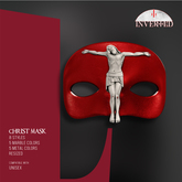+INVERTED+ Christ Mask -Leather Red-