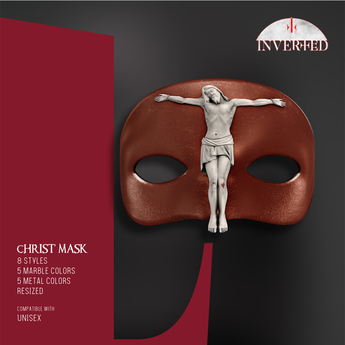 +INVERTED+ Christ Mask -Leather Brown-