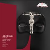 +INVERTED+ Christ Mask -Leather Black-
