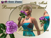 Bouquet of roses in hand, Bento animations, Purple _006_14