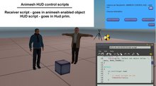 animesh scripts - HUD control & receiver scripts - boxed developers kit