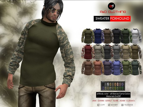 A&D Clothing - Sweater -Foxhound-  FatPack