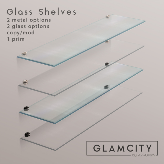 GLAMCITY //  Glass Shelves