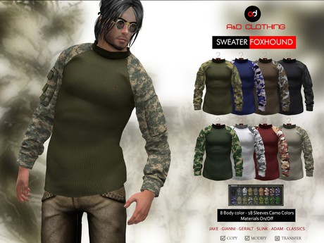 A&D Clothing - Sweater -Foxhound-  SlimPack