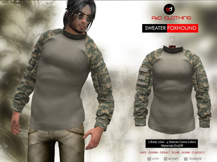A&D Clothing - Sweater -Foxhound- Stone
