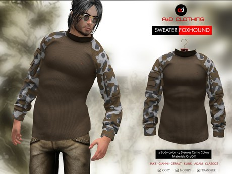 A&D Clothing - Sweater -Foxhound- Coffee