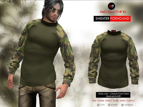 A&D Clothing - Sweater -Foxhound- Army