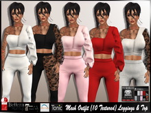 [Mesh] Outfit ( 10 Textured ) Leggings & Top