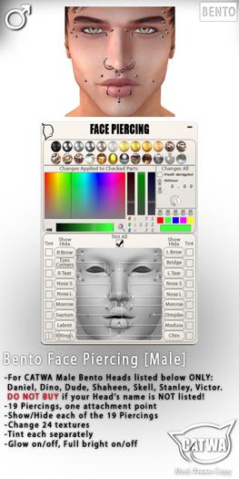 CATWA Bento Face Piercing [Male]