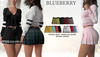 Blueberry - Juju - Pleated Skirts - Fat Pack