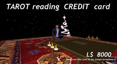 Tarot reading Credit card 8000