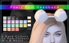 [F] Beary Pom Headband
