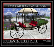 TMG - ENCHANTMENT COACH* Menu Driven Carriage in Cinderella style.