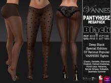 "VANNIES Pantyhose Megapack ""Black is beautiful"" (Applier-Hud for Belleza, Maitreya, Slink, Omega)"