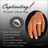 Captivating! Promises Silver Ring