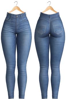 Blueberry - Evie - High Waist Jeans - Blue