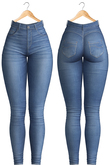 Blueberry - Evie - High Waist Jeans - Blue