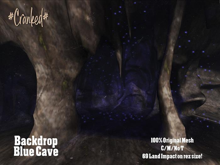 #Cranked# Backdrop Blue Cave (Boxed HUD. Wear me)