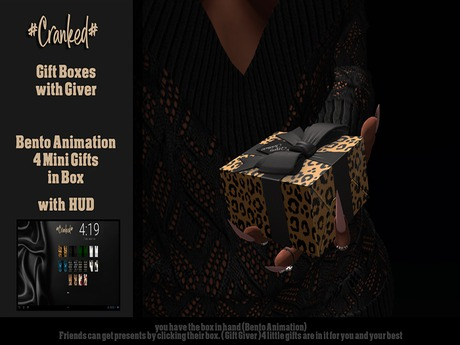 #Cranked# Gift Boxes / Giver Bento (Boxed HUD. Wear me)