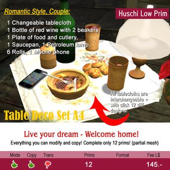 Little Dinner table-set A4