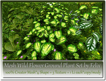 Mesh Wild Flower Ground Plant Set 4 Shape-3 Texture-1 Li c-m