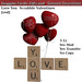 Love You  Scrabble Valentines [red] Boxed