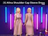 [S] Alina Shoulder Cap Sleeve Dress Pink
