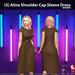 [S] Alina Shoulder Cap Sleeve Dress Brown