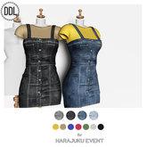 [DDL]Denim  Jumper Dress (Blue) & Tshirt