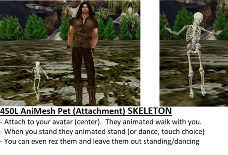 *NEW* Animated-Mesh Attachment-Pet SKELETON