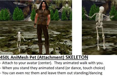 *PROMO* Animated-Mesh SKELETON Attachment-Pet