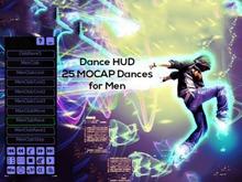 Dance HUD for Men including 25 MOCAP Dances