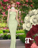 XK Maitreya Tiffany Lace Gown Yellow