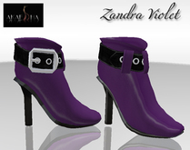Akaesha's Zandra Shoe - Violet Purple Leather