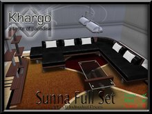 SUNNA SOFA SET: MENU DRIVEN TEXTURE / ANIMATION CHANGE / CUDDLES