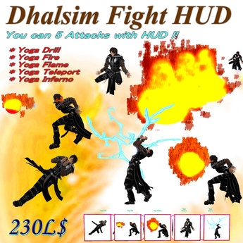 :[F.A.A]: 032-Dhalsim Fight HUD