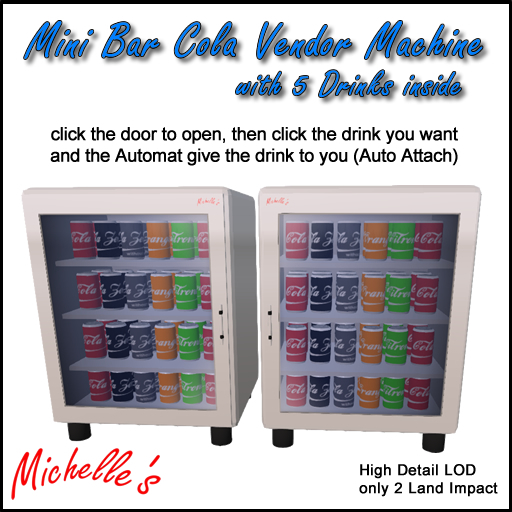 Michelle's Mini Bar Cola Vendor Machine