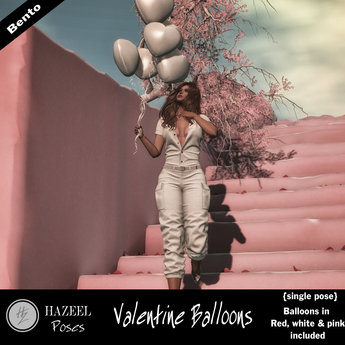 .::Hazeel::. Valentine Balloons ~Bento Pose