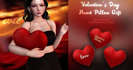 EVIE - Heart Pillow Valentine GIFT