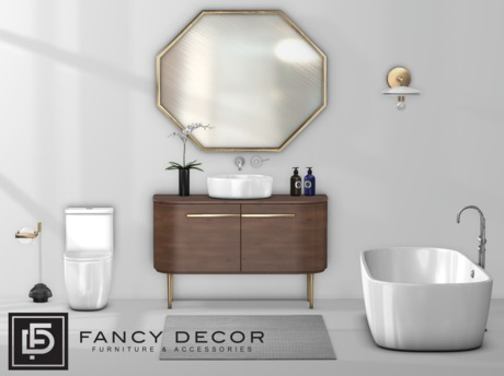Second Life Marketplace Fancy Decor Crane Bathroom Fatpack Pg
