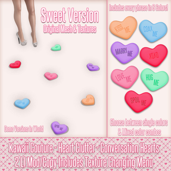 Kawaii Couture - Heart Clutter - Sweethearts