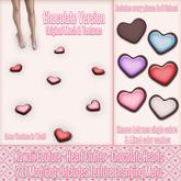 Kawaii Couture - Heart Clutter - Chocolate