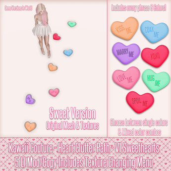Kawaii Couture - Clutter Heart Path V1- Sweeties