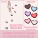 Kawaii Couture - Clutter Heart Path V1- Chocolate