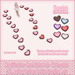 Kawaii Couture - Clutter Heart Path V2 - Chocolate