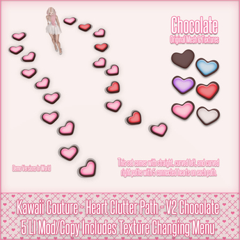 Kawaii Couture - Clutter Heart Path V2 - Chocolate {ADD ME}