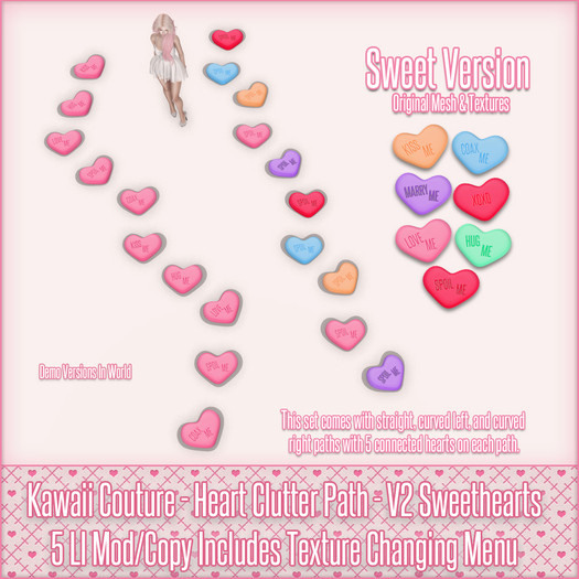 Kawaii Couture - Clutter Heart Path V2 - Sweethearts