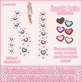 Kawaii Couture - Clutter Heart Path V3 - Chocolate