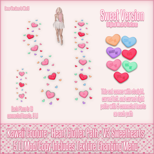 Kawaii Couture - Clutter Heart Path V3 - Sweethearts