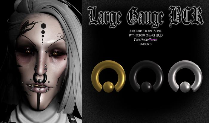 Second Life Marketplace Spookshow Large Gauge Bcr